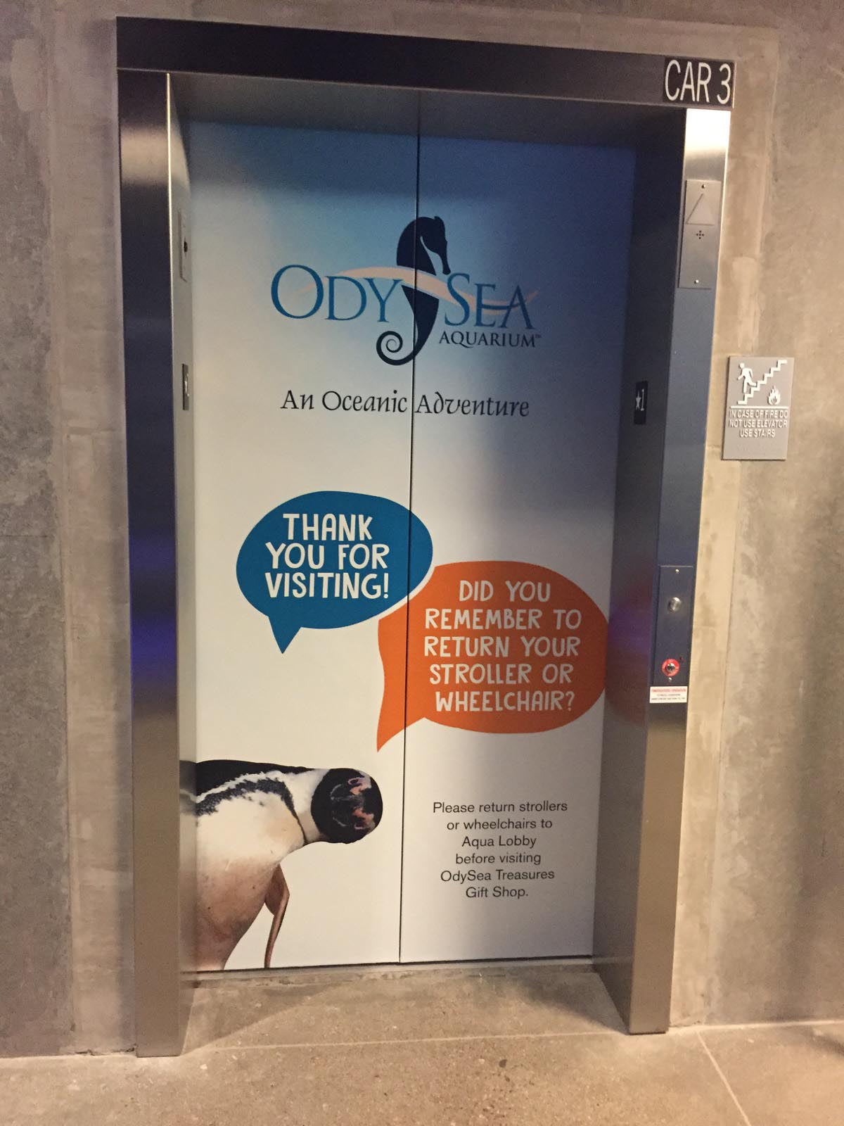 OdySea Aquarium Elevator Environmental Graphics