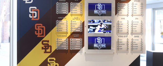 San Diego Padres Hall of Fame Museum Environmental Graphics Record Wall