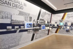 San Diego Padres Hall of Fame Museum Environmental Graphics Display Timeline Wall