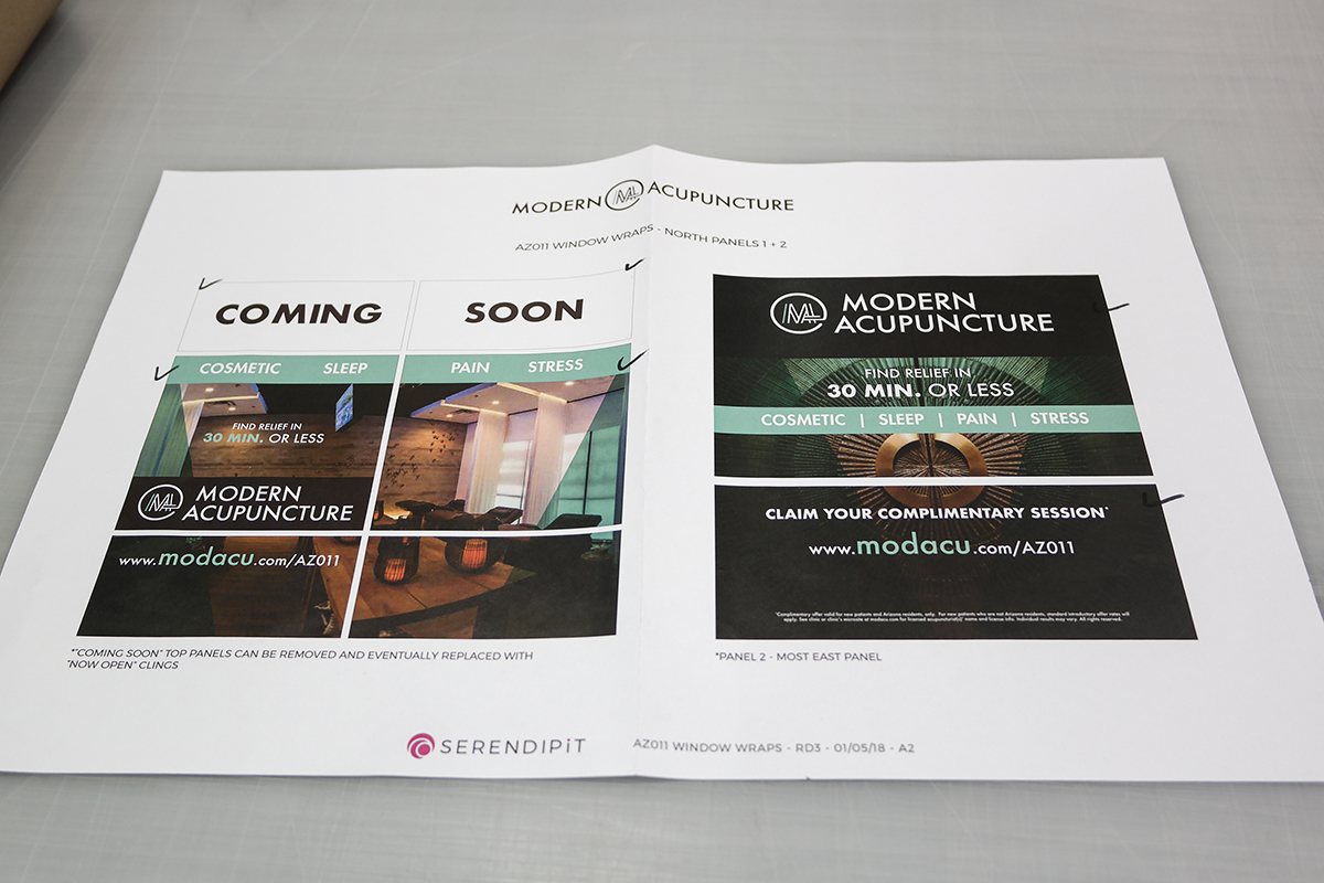 Modern Acupuncture Retail Window Wraps Design