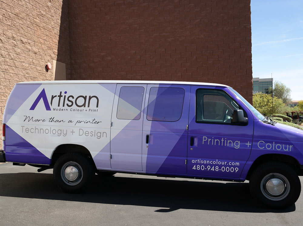 Artisan Colour Fleet Delivery Van Wrap Custom Vehicle Graphics