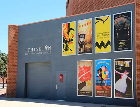 Printed Outdoor Display Banners Promote Upcoming Performances at Ethington Theatre | Grand Canyon University