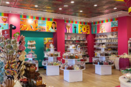 Colorful In-Store Wall Wraps Printed for OdySea Candy Shop by Artisan Colour