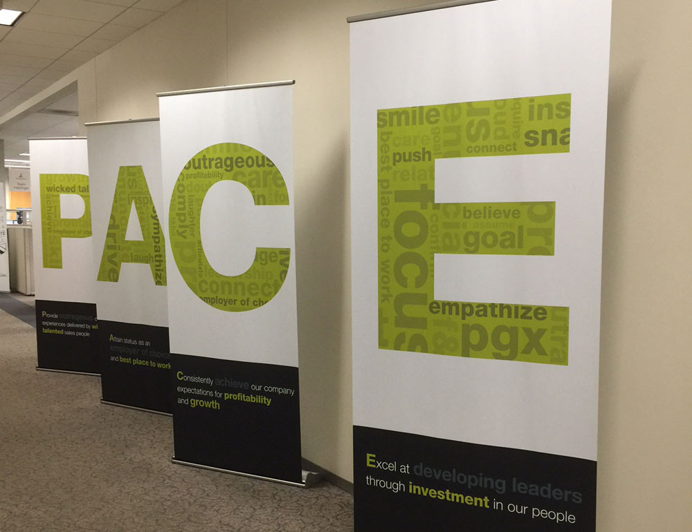 PACE Corporate Values Display Banners