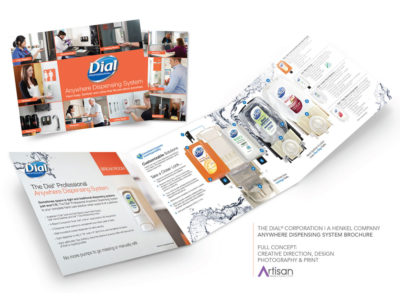 Dial Professional printed brochure, graphic design and printing from Artisan Colour