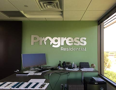 Dibond Metal Signage for Progress Residential by Artisan Colour