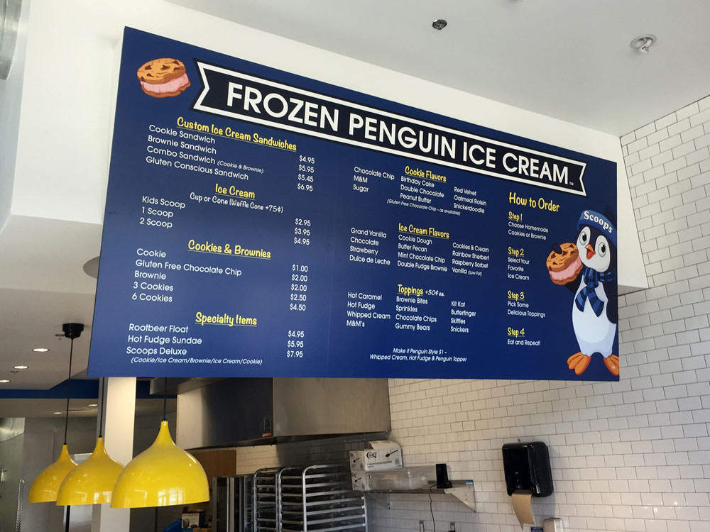 Frozen Penguin Large Menu
