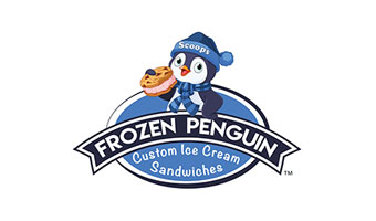 Frozen Penguin Custom Ice Cream Sandwiches