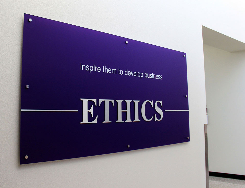 GCU Colangelo College of Business hallway signage created by Artisan Colour