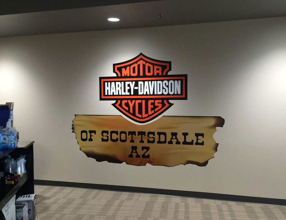 In-Store Retail Wall Graphics for Harley Davidson
