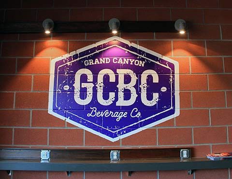 In-Store Wall Graphics at Graphic Grand Canyon Beverage Co.Printed & Installed by Artisan Colour