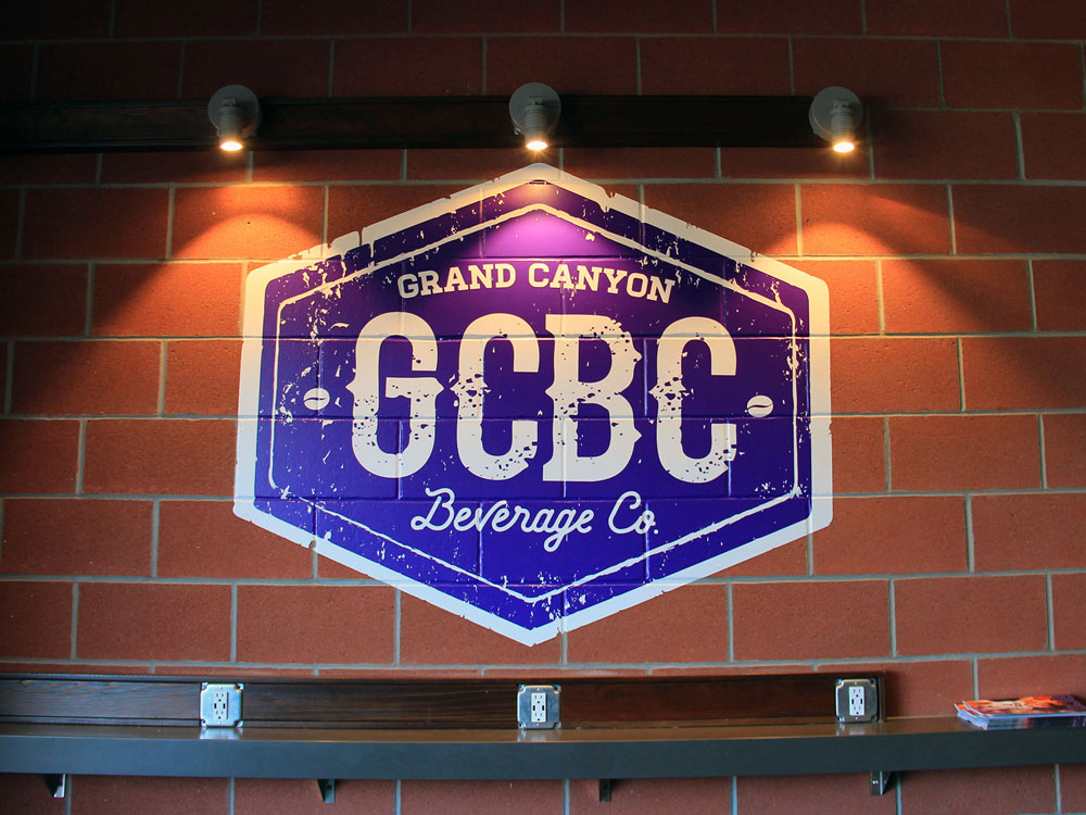 Printed In-Store Wall Display Graphics for Grand Canyon Beverage Co.