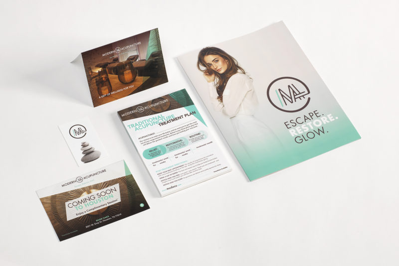 Modern Acupuncture Sales & Marketing Collateral Materials Small Format Printing by Artisan Colour