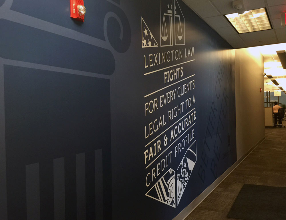Printed Custom Wallpaper for Lexington Law Corporate Office Printed by Artisan Colour