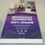 Promotional Outdoor Display Banner for GCU Online Education