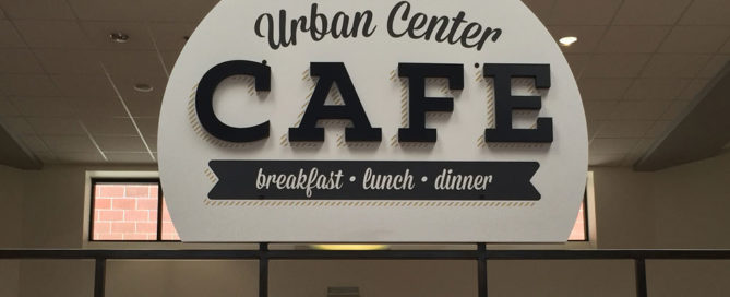 Urban Center Cafe Sign
