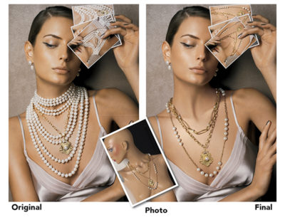 necklace custom product photography image manipulation