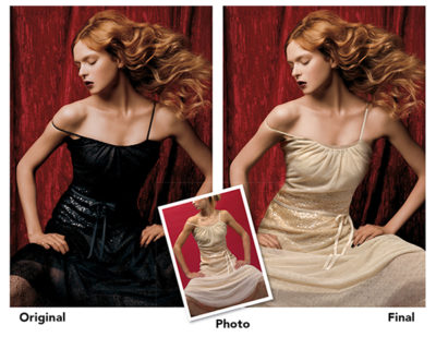dress custom product photography image retouching