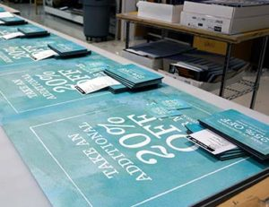 printed retail signage, printing tools for success from Artisan Colour