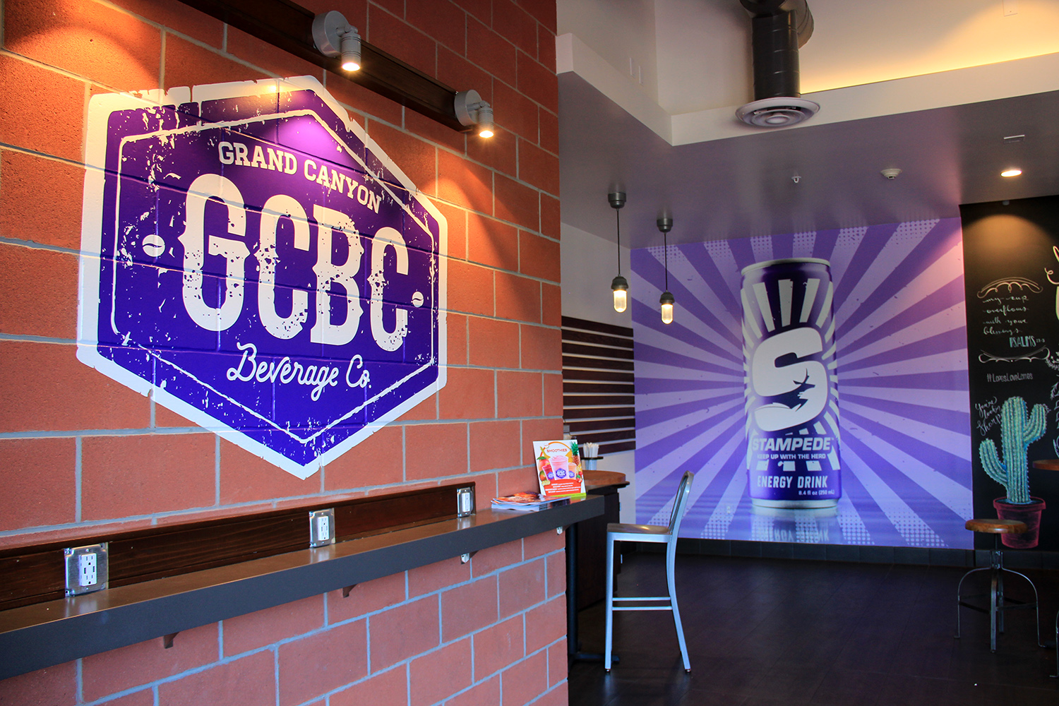 GCU Environmental Graphics Coffee Shop Wall Graphics