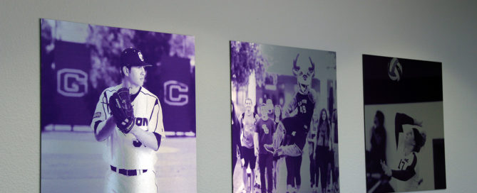 GCU Purple Custom Dibond Prints