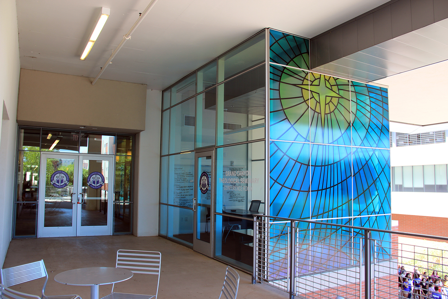 GCU Stained Glass Window Graphic