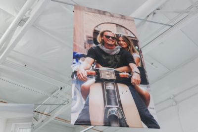 Custom Extra Large Hanging Vinyl Banner Printing by Artisan Colour