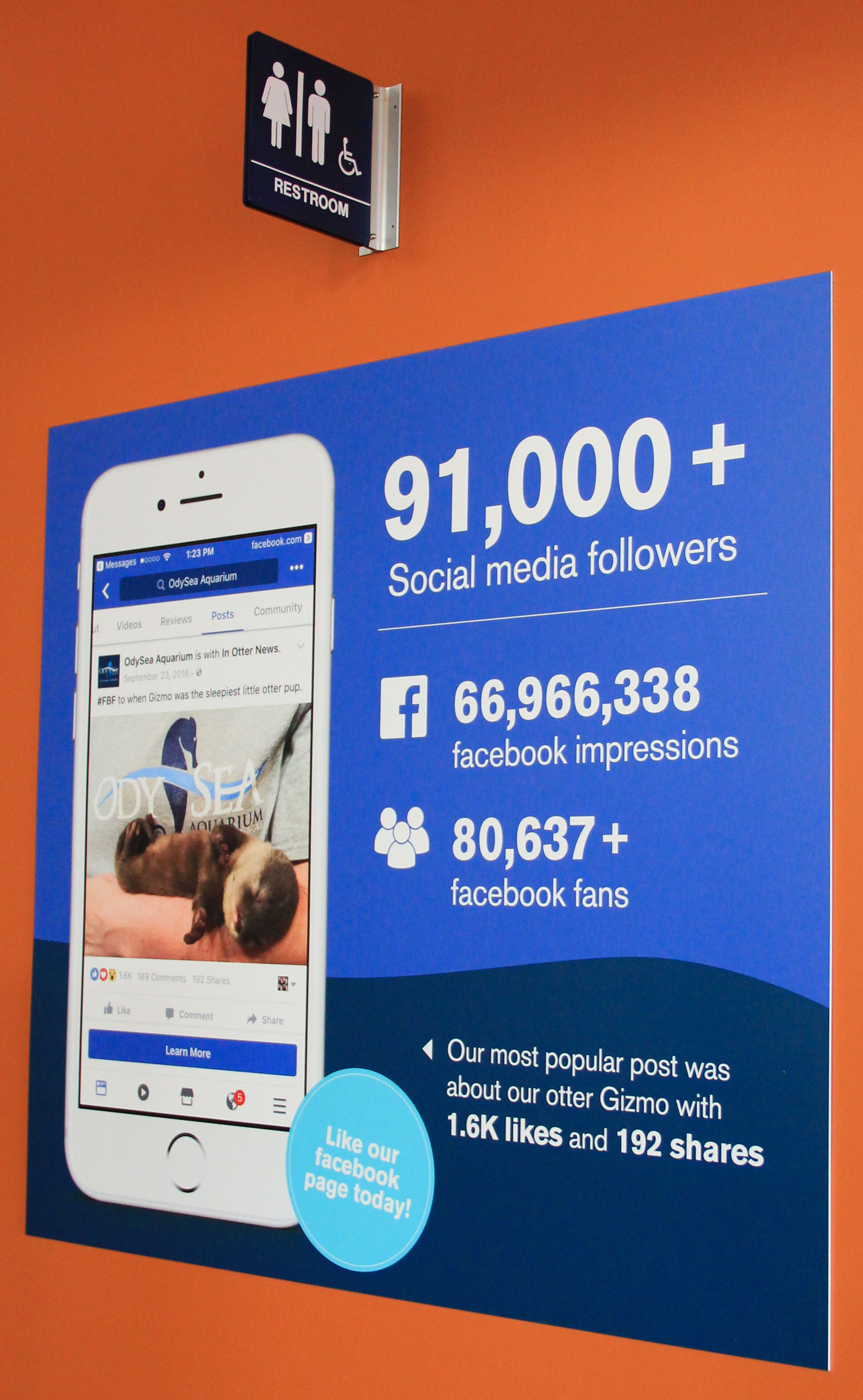 OdySea Aquarium Social Media Wall Signage
