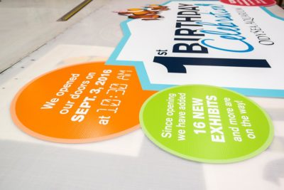 OdySea First Birthday Plastic Outdoor Sign Printing
