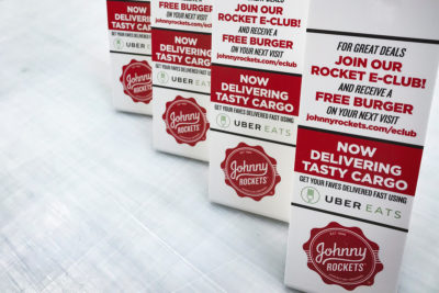 Johnny Rockets Point Of Purchase Table Displays