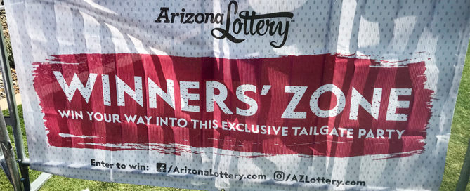Arizona Lottery Cardinals Game Mesh Banner