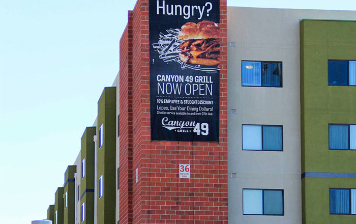 Canyon 49 Grill Outside Banner