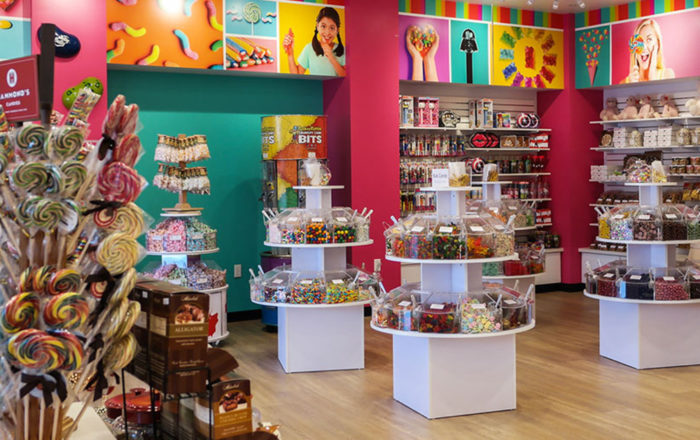 Colorful In Store Wall Wraps OdySea Candy Shop