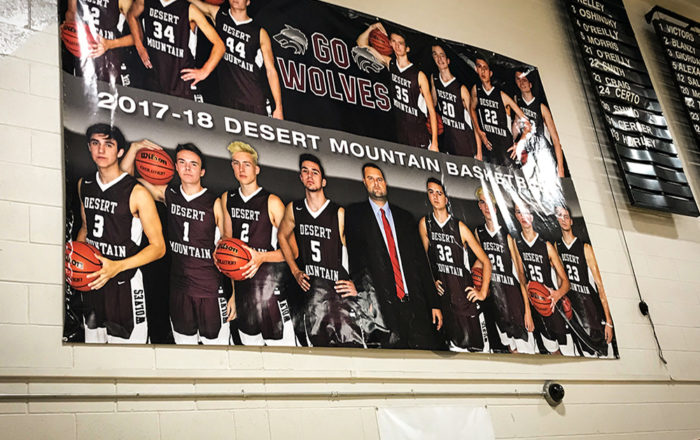 Desert High School Basketball Banner