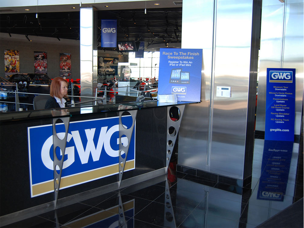 GWG Front Reception Environmental Graphics Banners Signage ArtisanColour