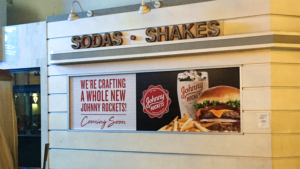Johnny Rockets Rebrand Coming Soon Graphics ArtisanColour
