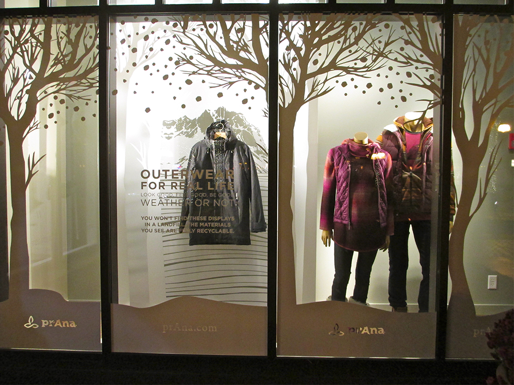 Prana Storefront Seasonal Point Of Purchase ArtisanColour