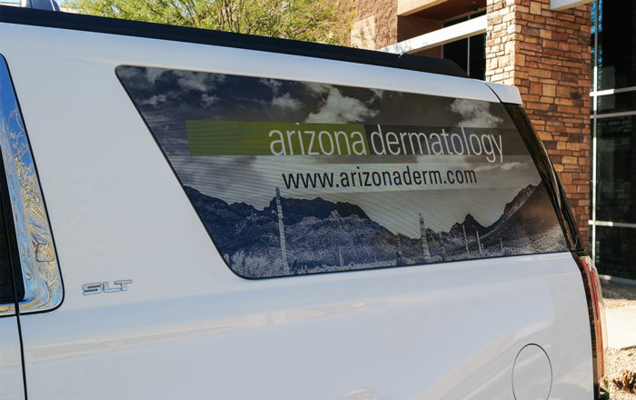 Arizona Dermatology Side Window Vehicle Wraps ArtisanColour