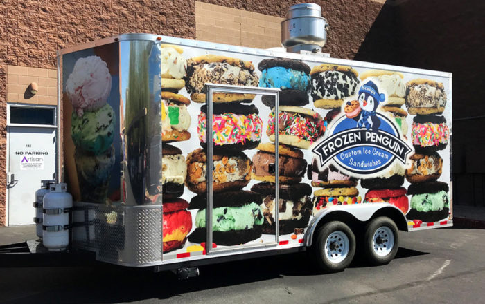 Frozen Penguin Ice Cream Truck Vehicle Wraps ArtisanColour