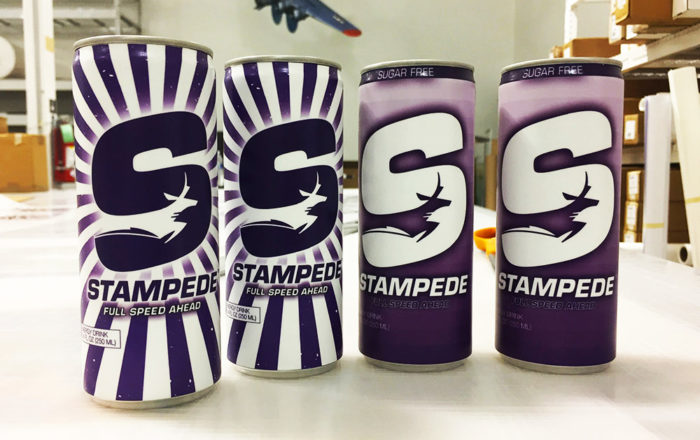 Stampede Energy Drink Wrap Design Custom Packaging ArtisanColour