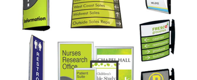 directional signage tradeshow events artisancolour