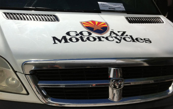 go az motorcycles vehicle wraps on hood artisancolour