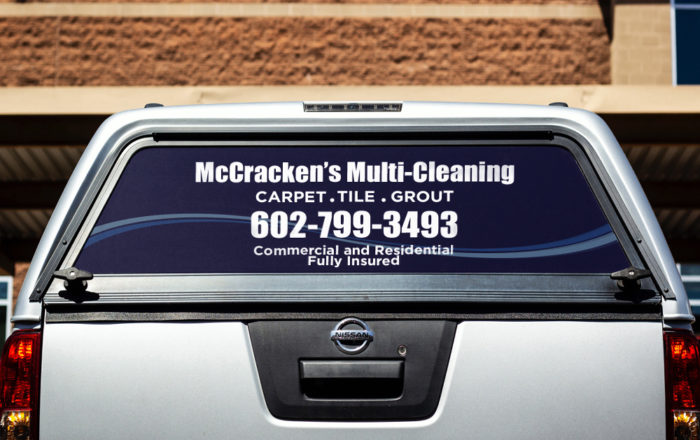 mccrackens multicleaning back window vehicle wraps artisancolour