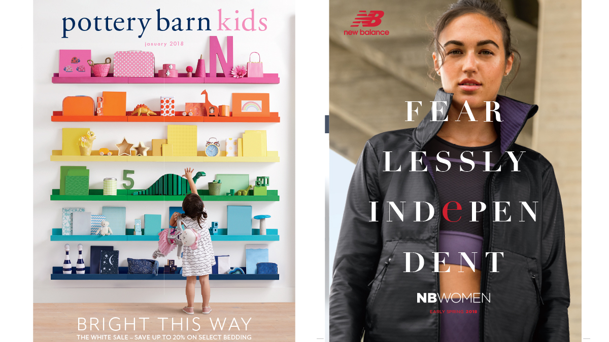 catalog shopping covers printed by artisancolour potterybarnkids newbalance