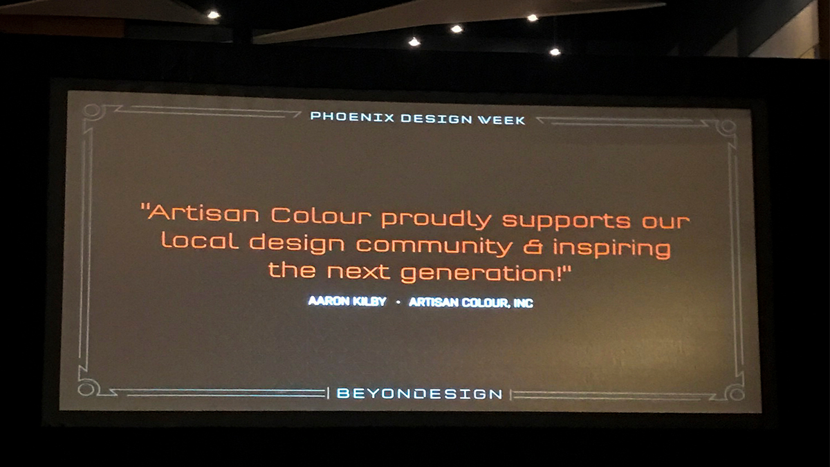 local printer artisancolour sponsors phx design week