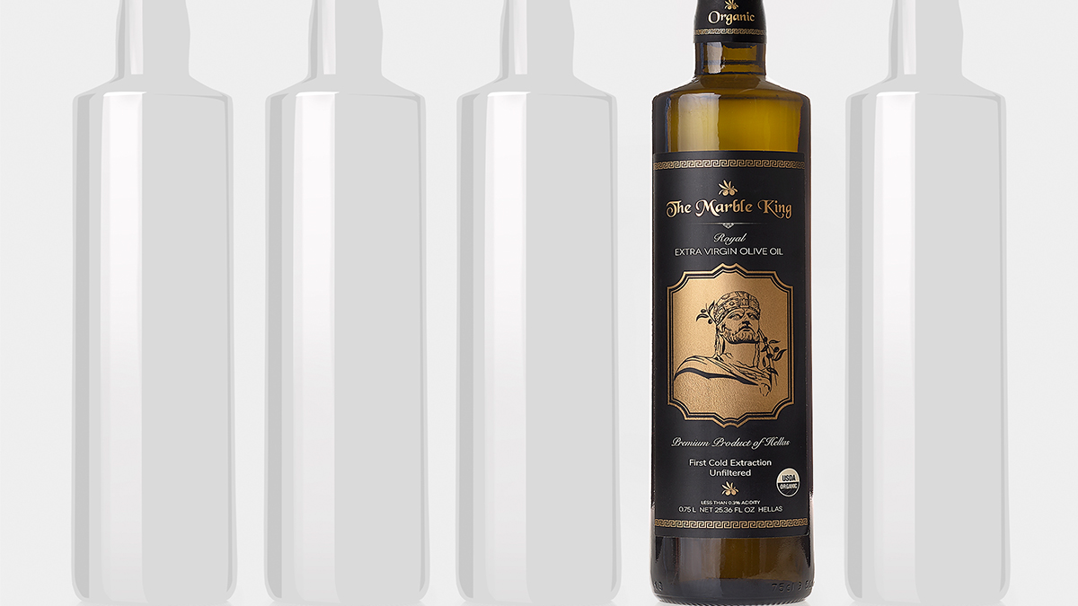 Award Winning Packaging Design The Marble King Olive Oil Artisan Colour
