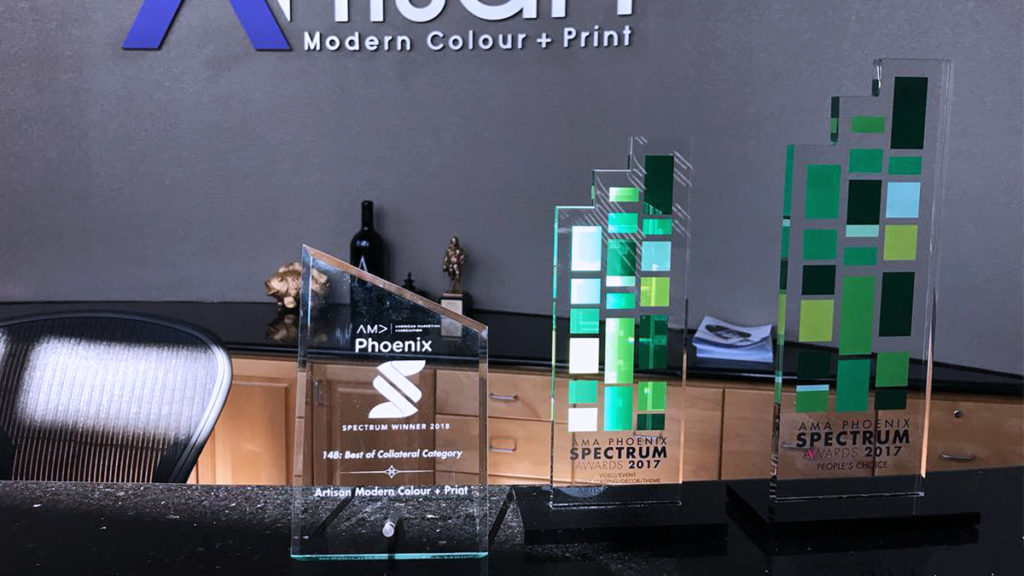 Awards for our Phoenix Valley Print Shop