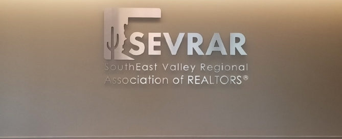 SEVRAR Realtors signage with Arizona printing services by artisan colour