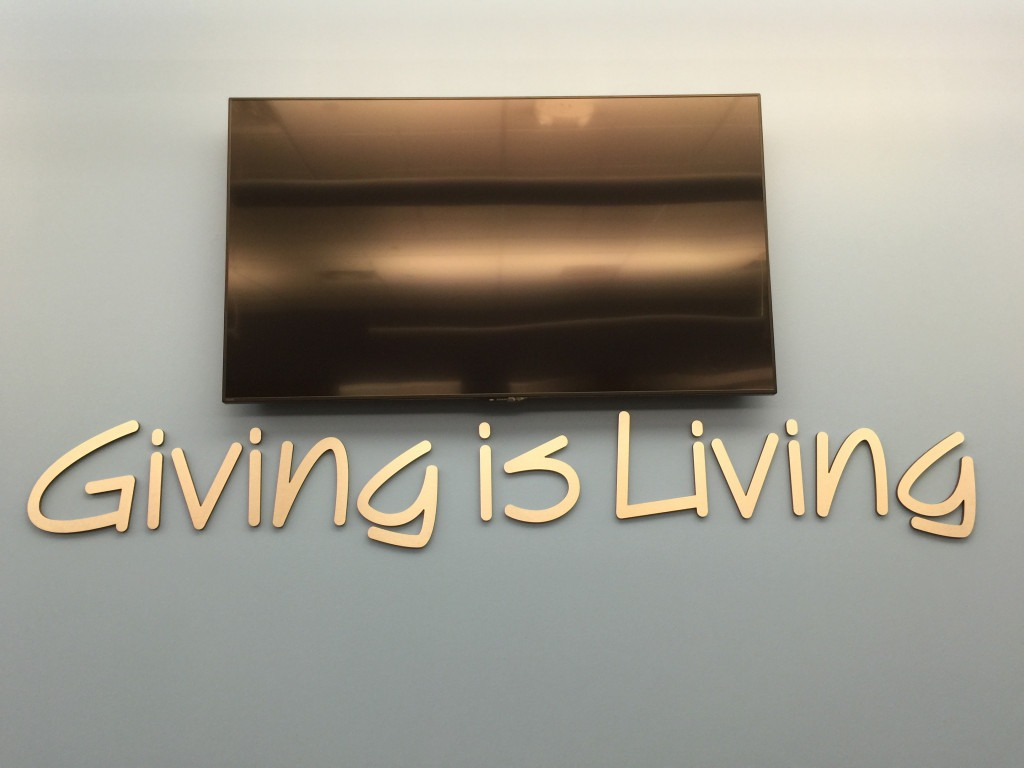 Giving signage printed by Artisan Colour for Lexington Law