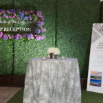 Custom Banners for the The Pulse of the City Soiree Banner Health Reception Table